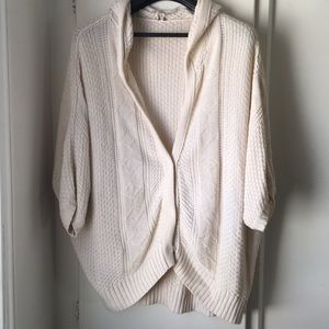Free People Slouchy Chunky Sweater Cardigan